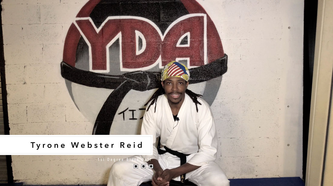 Tyrone Webster Reid - blackbelt student and teacher at YDA